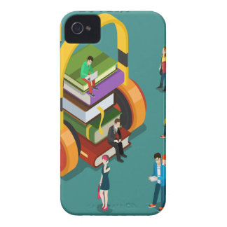 February is Library Lovers' Month Appreciation Day iPhone 4 Case-Mate Cases