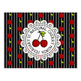 February is National Cherry Month Postcard
