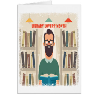 February - Library Lovers' Month Appreciation Day Card