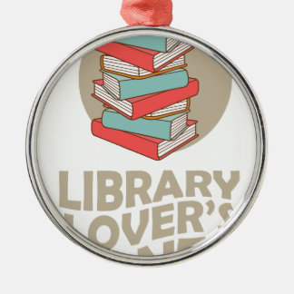 February - Library Lovers' Month Metal Ornament