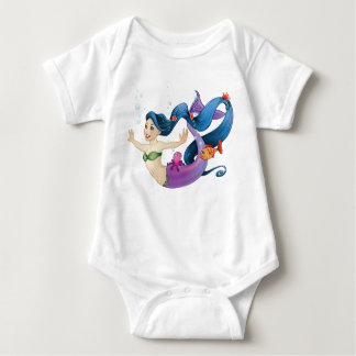 February Mermaid Baby Bodysuit