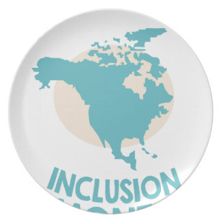 February - North American Inclusion Month Plate