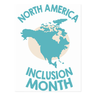 February - North American Inclusion Month Postcard