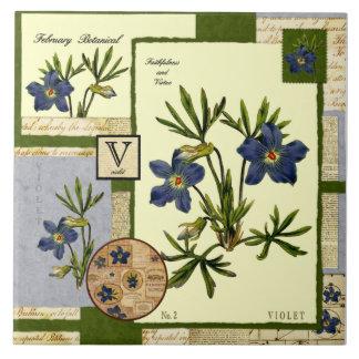 February's Flower Ceramic Tiles