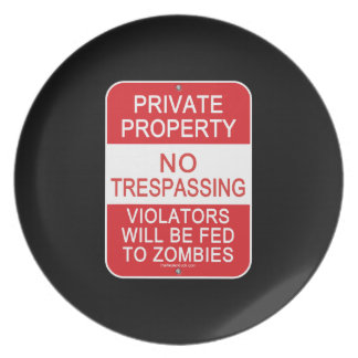 Fed To Zombies Plate