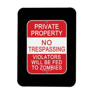 Fed To Zombies Rectangular Photo Magnet