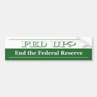 Fed Up! Bumper Sticker