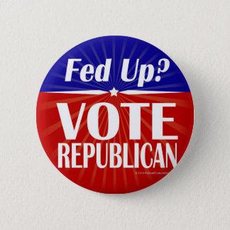Fed Up? Vote Republican 6 Cm Round Badge