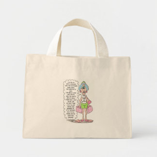 fed up with airlines mini tote bag