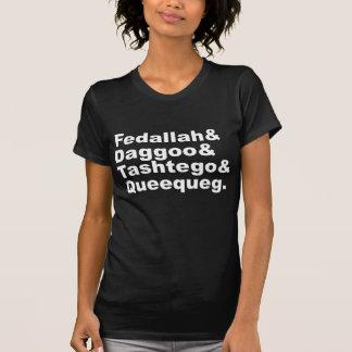 Fedallah Daggoo Tashtego Queequeg | Moby Dick Pals Tee Shirt