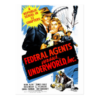 Federal Agents Vs. Underworld, Inc. Postcard
