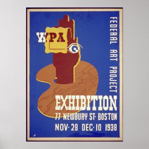 Federal Art Project Exhibition Boston 1938 WPA Print