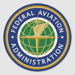Federal Aviation Administration FAA Sticker