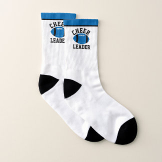 Federal Blue and Black Football Cheerleader Socks 1