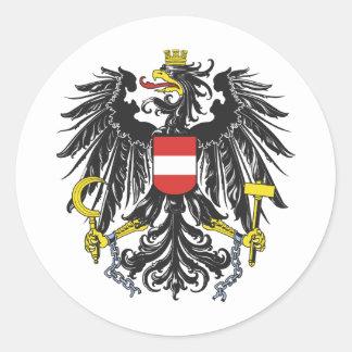 Federal eagle Austria Classic Round Sticker