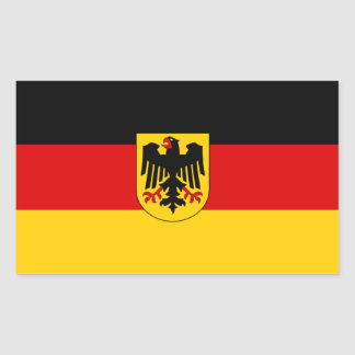 Federal Flag of Germany Rectangular Sticker
