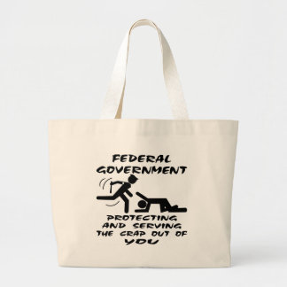 Federal Government Protecting And Serving Tote Bag