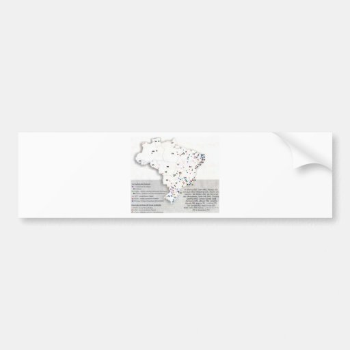 Federal net in Obras_Municípios map of Brazil Bumper Stickers