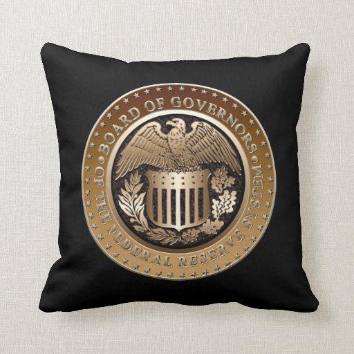 Federal Reserve Throw Pillows