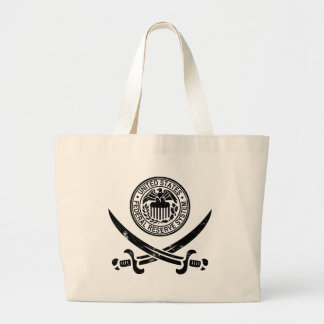 Federal Reserve Pirate Logo Canvas Bags