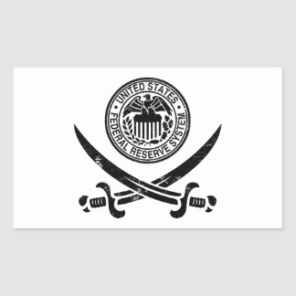 Federal Reserve Pirate Logo Rectangular Sticker