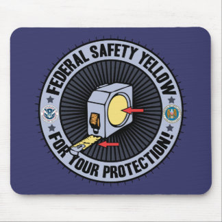 Federal Safety Yellow Mouse Mat