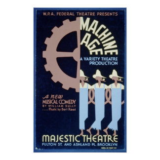 Federal Theater presents a Musical Comedy WPA Poster