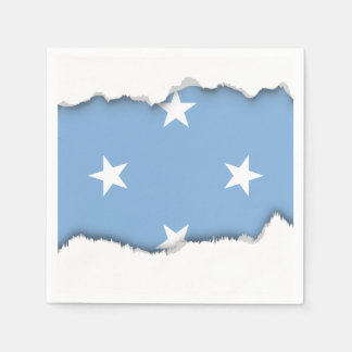 Federated StATES of Micronesia Flag Paper Napkins