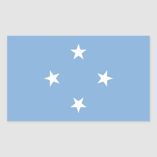 Federated StATES of Micronesia Flag Rectangular Sticker