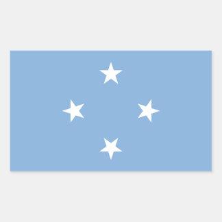 Federated StATES of Micronesia Flag Rectangular Sticker