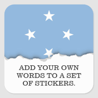 Federated StATES of Micronesia Flag Square Sticker