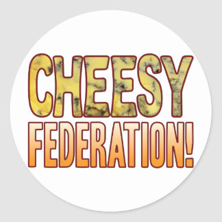 Federation Blue Cheesy Round Sticker
