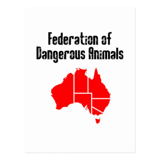 Federation of Dangerous Animals Postcard