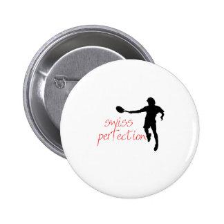 Federer Tshirt Swiss Perfection 6 Cm Round Badge