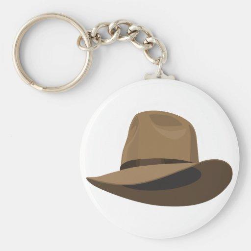 Fedora bush hat keychains