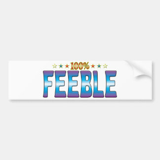 Feeble Star Tag v2 Bumper Stickers