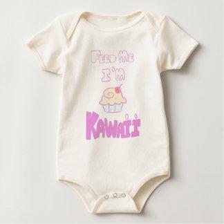feed kawaii cupcake baby bodysuit