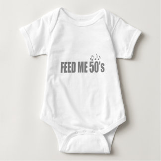 Feed me 50s Fifties Music Baby Bodysuit