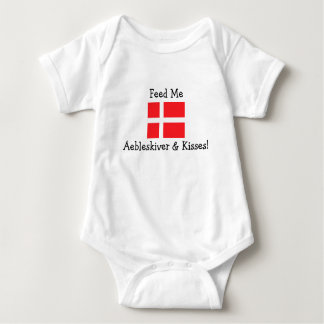 Feed Me Aebleskiver & Kisses! Baby Bodysuit