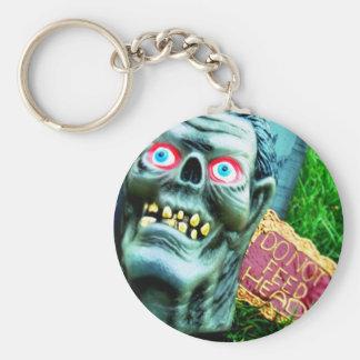 Feed Me Basic Round Button Key Ring