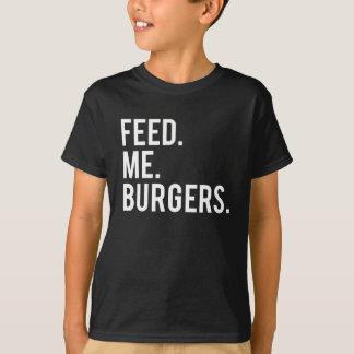Feed Me Burgers Print T-Shirt