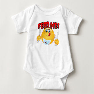 Feed Me Emoticon Baby Bodysuit