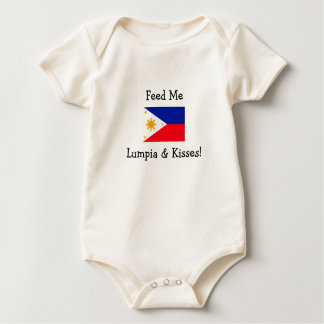 Feed Me Lumpia & Kisses! Baby Bodysuit
