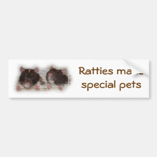 Feed Me Rattie Bumper Sticker