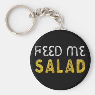 Feed me salad key ring