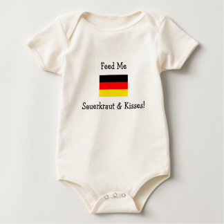 Feed Me Sauerkraut & Kisses! Baby Bodysuit