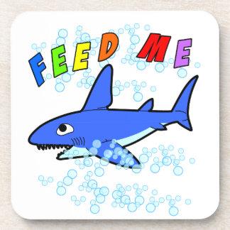 Feed Me Shark Coaster
