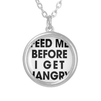 Feed Me Silver Plated Necklace