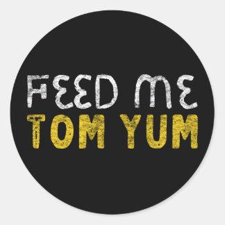 Feed me tom yum classic round sticker