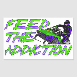 Feed The Addiction Rectangular Sticker
